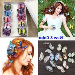 5x Butterfly Hair Clips Bridal Hair Accessories Wedding Phot