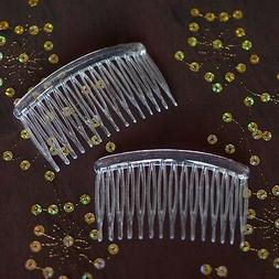 6 Clear Plastic Hair Combs Simple and Ready to Decorate! Bri