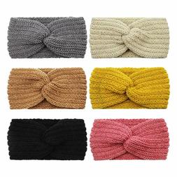 6 pack bow headband for women knotted