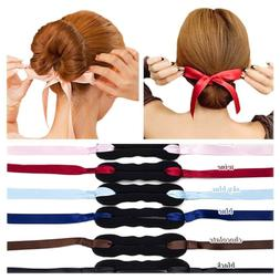 6 PCS Bun Maker Hair Bun Shapers Women Girls Beauty Crown an