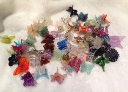 60 Mixed Mini Plastic Butterfly Hair Clips Hair Accessories