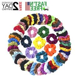 60 Pcs Hair Scrunchies Velvet Elastic Hair Bands Scrunchy Ha