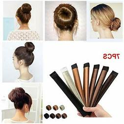 7 Pcs Bun & Crown Shapers Maker French Twist Hair Donut Fold