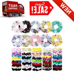 70 Pack Hair Scrunchies Hair Ties Elastic Hair Bands Scrunch