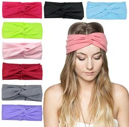 DRESHOW 8 Pack Women's Headbands Headwraps Hair Bands Bows H