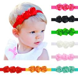 8 pcs colors newborn baby girl headband