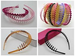8 Plastic Wave Hair Band Headband 8mm with Teeth Hair Access
