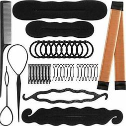 80 Pieces Bun & Crown Shapers Hair Styling Accessories Kit P
