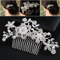 Bridal Hair Comb Pearl Crystal Headpiece Wedding Accessories