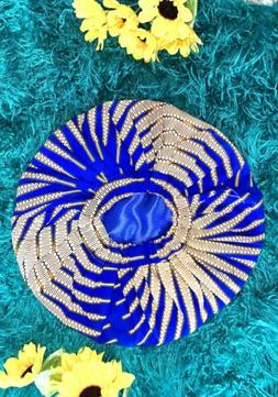 African Print Reversible Satin Bonnet / Face Mask With HEPA