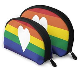 Makeup Bag Gay Pride Love Portable Shell Pouch For Girls Chr