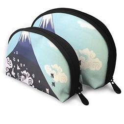 Makeup Bag Japanese Mountain Portable Shell Pouch For Women