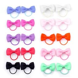 Belle Beau Baby Girls Bow Elastic Ties,Ponytail Holders,Hair