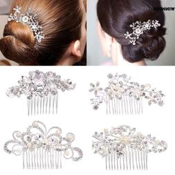Bridal Hair Accessories Crystal Rhinestones Flower Pearl Hai