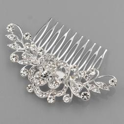 bridal hair comb pearl crystal headpiece wedding