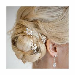 Aukmla Bridal Wedding Hair Pins for Women and Girls Pack of