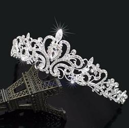 Bridal Wedding Princess Crystal Hair Tiara Crown Comb Brides