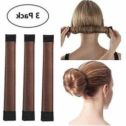 Bun & Crown Shapers 3 Pack Magic Hair Styling Disk Donut Mak