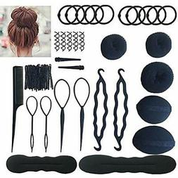 Bun & Crown Shapers Hair Accessories Styling Set Kit For Wom