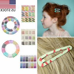 Candy Color Girls Hairpins Headwear Children Snap Hair Clips