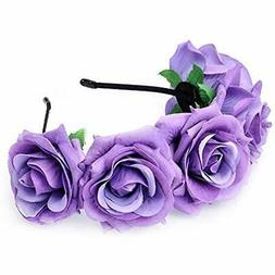 Ever Fairy Chiffon Lace Flower Baby Girls Turban Headband Wr