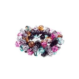 Caravan Clear And Multiple Color Faceted Beads Creates This