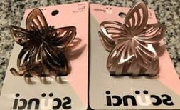 Scunci Conair Claw Hair Clip Set Of 2 Pearlescent Pink Shimm
