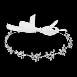 BABEYOND Crystal Bridal Headband Bridal Hair Accessories wit