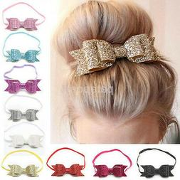Cute Baby Girls Flower Hair Accessories Hairband Bow Elastic