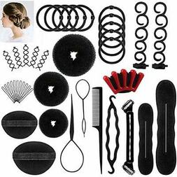 DELOVE- Hair Bun & Crown Shapers Styling Set, Fashion Design