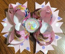 Disney Princess Character Hair Bow with Free Shipping