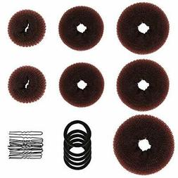 Donut Hair Bun & Crown Shapers Maker, Ring Set With Makers (