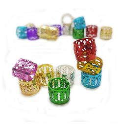 100pcs Dreadlock Accessories Braiding Rings Metal Decoration