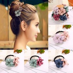 elastic hair ring flower cloth hair rubber