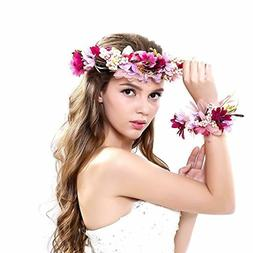 Ever Fairy Women Flower Wreath Crown Floral Wedding Garland