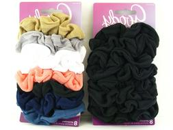 GOODY FABRIC HAIR SCRUNCHIES - 8 PCS.