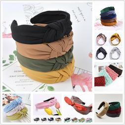Fashion Bow Knot Hairband Women Hair Head Hoop Simple Sweet