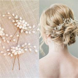 Fashion Bridal Hair Accessories Pearl Flower Hair Stick Pin