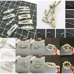 Fashion Crystal Rhinestone Hair Accessories Pins Barrette Cl