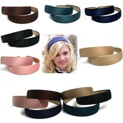 Fashion Plastic Women's Hair Accessories Solid Color Wide He