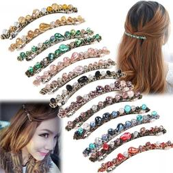 Fashion Women Hair Accessories Crystal Hairpin Hair Clip Bar