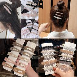 Fashion Women Rhinestone Long Barrettes Hair Clip Hairpin Ha