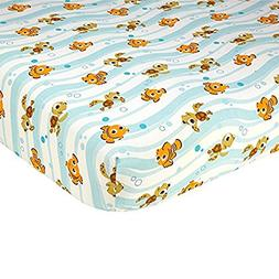 Disney Finding Nemo Crib Sheet, Blue