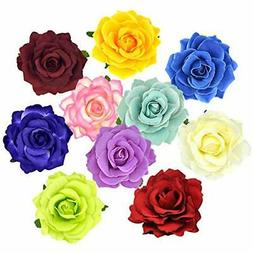 DRESHOW Flower Hair Clip Rose Hairpin Floral Brooch Floral H