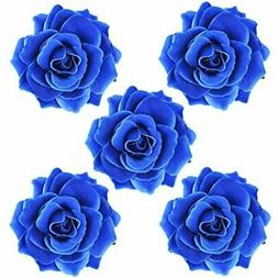 DRESHOW Flower Hair Clip Rose Hairpin Floral Brooch Clips Wo