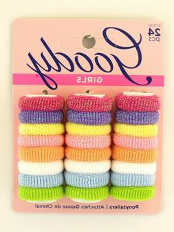 GOODY GIRLS ASSORTED TERRY  PONYTAILERS - 24 PCS.