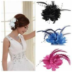 Girls' Hair Accessories Flower Feather Hair Clip Headwear We