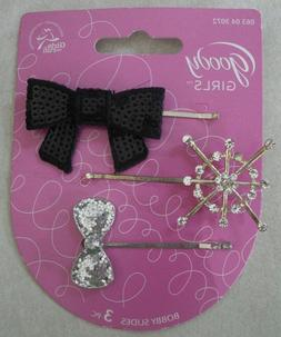 Goody Girls Hair Bobby Pin Slides 3 Pieces Styling Accessori