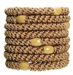L. Erickson Grab & Go Ponytail Holders - Set of Eight - Sand
