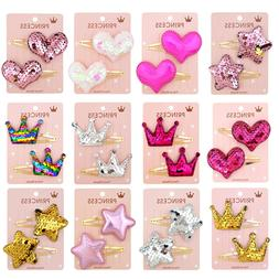 Gradient color flip sequin five-pointed star love crown chil